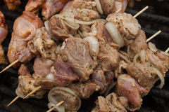 Raw marinaded bbq meat prepared for grill Stock Photo