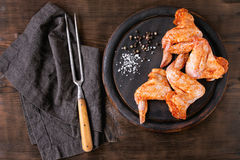 Raw Marinated chicken for BBQ Royalty Free Stock Photos