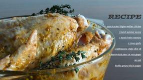 Raw Marinated chicken Stock Photos