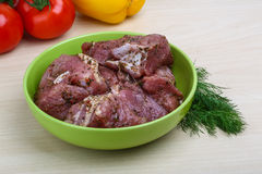 Raw marinated meat for bbq Stock Images