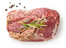 Raw marinated pork tenderloin Royalty Free Stock Images
