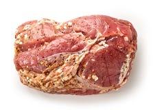 Raw marinated pork tenderloin Stock Image