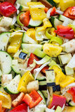 Raw marinated vegetables background Royalty Free Stock Images