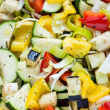 Raw marinated vegetables square background Royalty Free Stock Photo