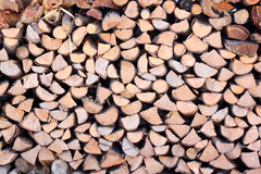Raw material of fuelwood. Royalty Free Stock Image