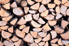Raw material of fuelwood. Stock Photography