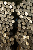 Raw material steel, rod material, pipe, bundled, stock supply material Stock Photography
