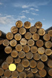 Raw material, steel, rod material, pipe, bundled, stock supply outdoor Royalty Free Stock Image