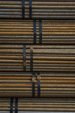Raw material, steel, rod material, pipe, bundled, stock supply Stock Photography