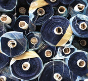 Raw materials. Details of a raw materials for sewing company Royalty Free Stock Photo