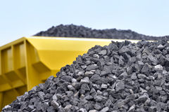 Raw materials crushed stones Royalty Free Stock Photo