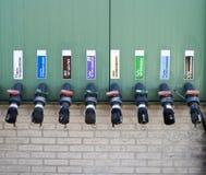 Raw materials at greenhouse wall Stock Photo