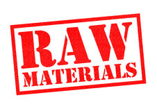 RAW MATERIALS Stock Photo