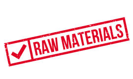 Raw Materials rubber stamp Stock Photos