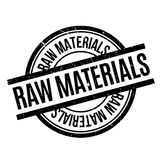 Raw Materials rubber stamp Stock Photo