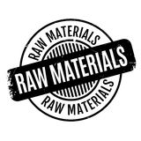Raw Materials rubber stamp Stock Images