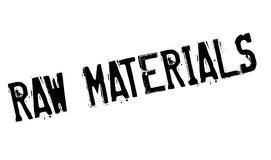 Raw Materials rubber stamp Royalty Free Stock Photo