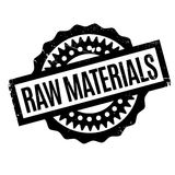 Raw Materials rubber stamp Stock Image
