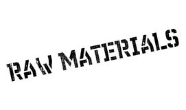 Raw Materials rubber stamp Royalty Free Stock Images