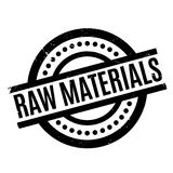 Raw Materials rubber stamp Royalty Free Stock Photography