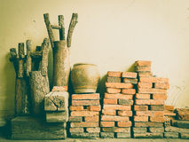 Raw materials vintage background Stock Images