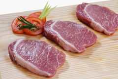 Raw meat. Cuts of freas meat in white backgroun Royalty Free Stock Photo