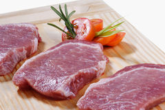 Raw meat. Cuts of freas meat in white backgroun Royalty Free Stock Images