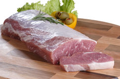 Raw meat. Cuts of freas meat in white backgroun Stock Images