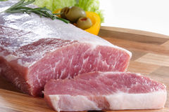 Raw meat. Cuts of freas meat in white backgroun Stock Image