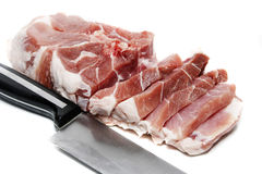 Raw meat. On a white background Royalty Free Stock Photo