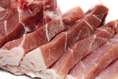 Raw meat. On a white background Royalty Free Stock Photography