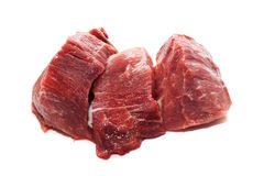 Raw meat. On a white background. Food image series Stock Images