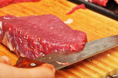 Raw meat. Fresh, raw meat texture of the red Royalty Free Stock Image