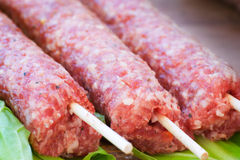 Raw meat. Prepared for grilling Royalty Free Stock Images