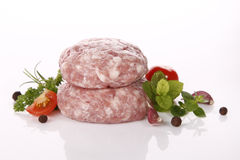 Raw meat. Very fresh raw meat loaf Stock Photos