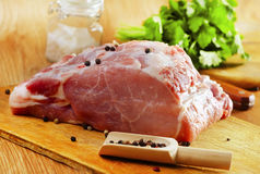 Raw meat. On wooden background Royalty Free Stock Image