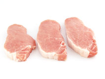 Raw meat. Fresh raw meat isolated on white Royalty Free Stock Image