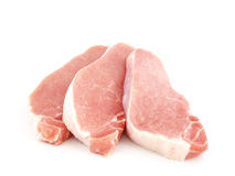 Raw meat. Fresh raw meat isolated on white Royalty Free Stock Photography
