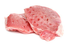 Raw meat. Fresh raw meat isolated on white background Royalty Free Stock Photography