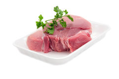 Raw meat. Fresh raw meat isolated on white background Royalty Free Stock Images