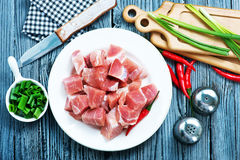 Raw meat. With aroma spice and sea salt Royalty Free Stock Images