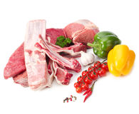 Raw meat assortment Stock Photos