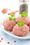 Raw meat balls Stock Photography