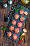 Raw meat balls Royalty Free Stock Image