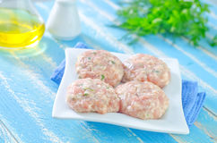 Raw meat balls Royalty Free Stock Photography