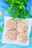 Raw meat balls Stock Photo