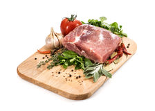 Raw Meat for barbecue with fresh Vegetables and Mushrooms Stock Photography