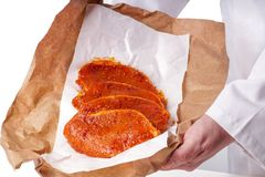 Raw meat for barbecue Royalty Free Stock Photography