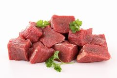 raw meat beef. Raw meat beef  on white Royalty Free Stock Images