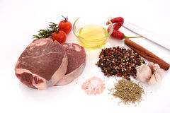 Raw meat, beef steak. Isolated on white background tenderloin Royalty Free Stock Photo